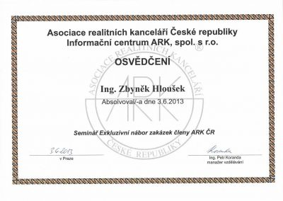 Seminár Exkluzivní nábor zakázek členy ARKČR