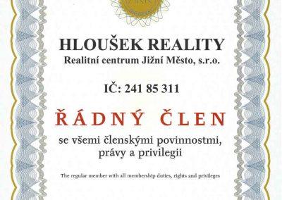 Řádný člen Asociace realitních kanceláří ČR