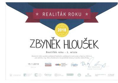 Nejlepší realitní makléř v Praze - Realiťák roku 2018