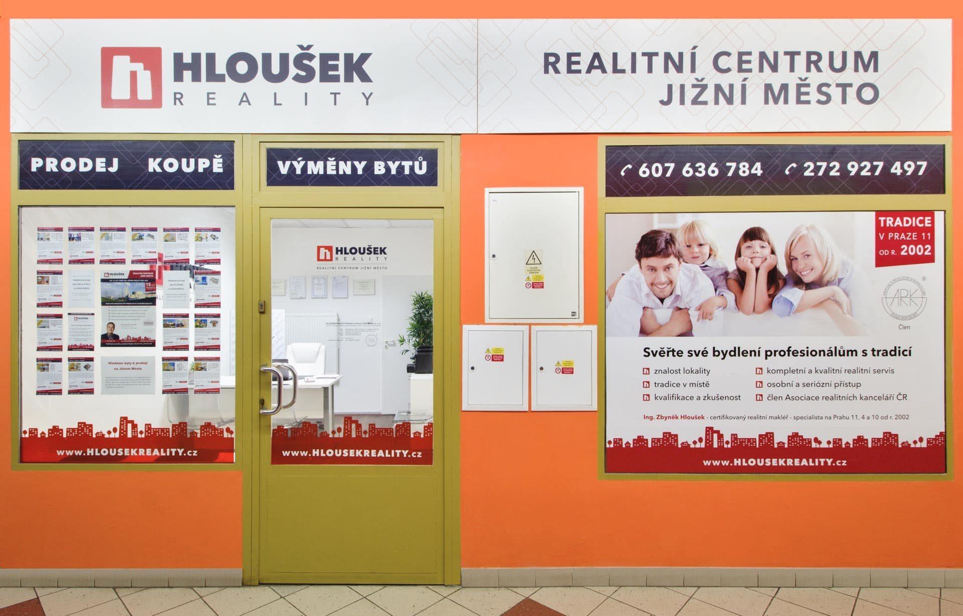 Realitní kancelář HLOUŠEK REALITY Realitní centrum Jižní Město specializující se na prodej bytu na Hájích