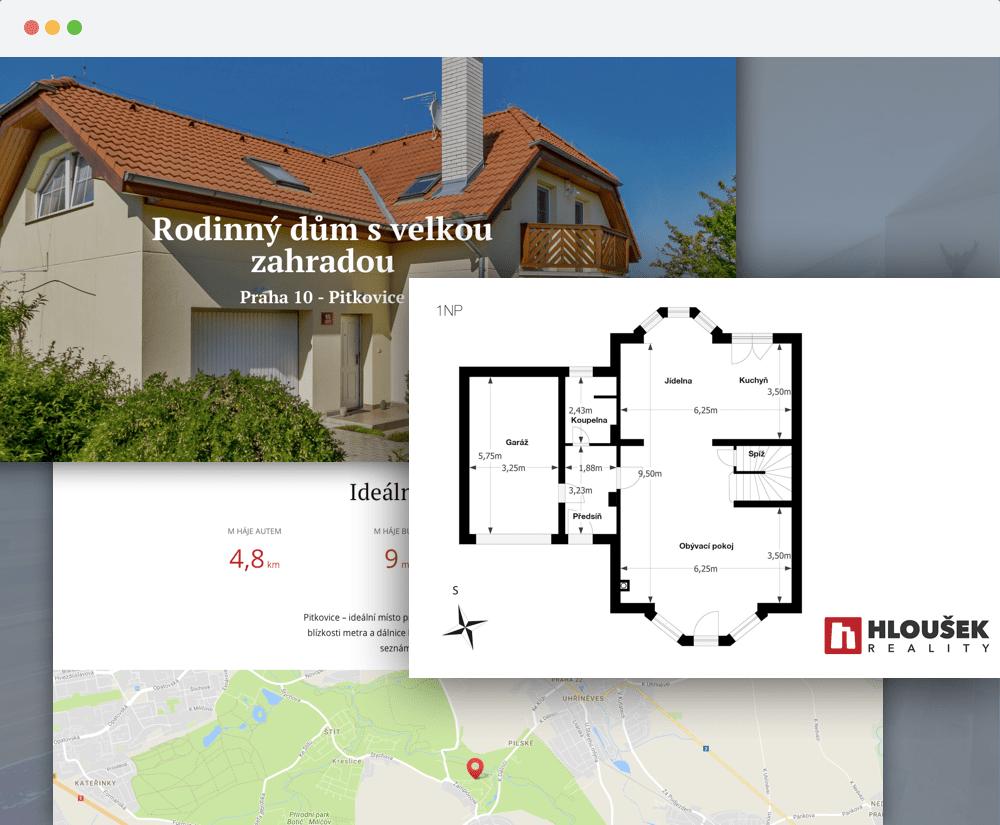 Web nemovitosti - prodej rodinného domu Praha 10 Pitkovice - Ing. Zbyněk Hloušek - realitní makléř v Praze