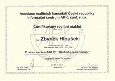 Zbyněk Hloušek - certifikovaný realitní makléř na Praze 4 - Jižní Město