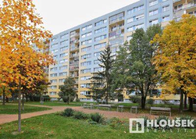 Dům z parku ve vnitrobloku - byt 3+kk/L, ul. Křejpského, Praha 4 - Chodov