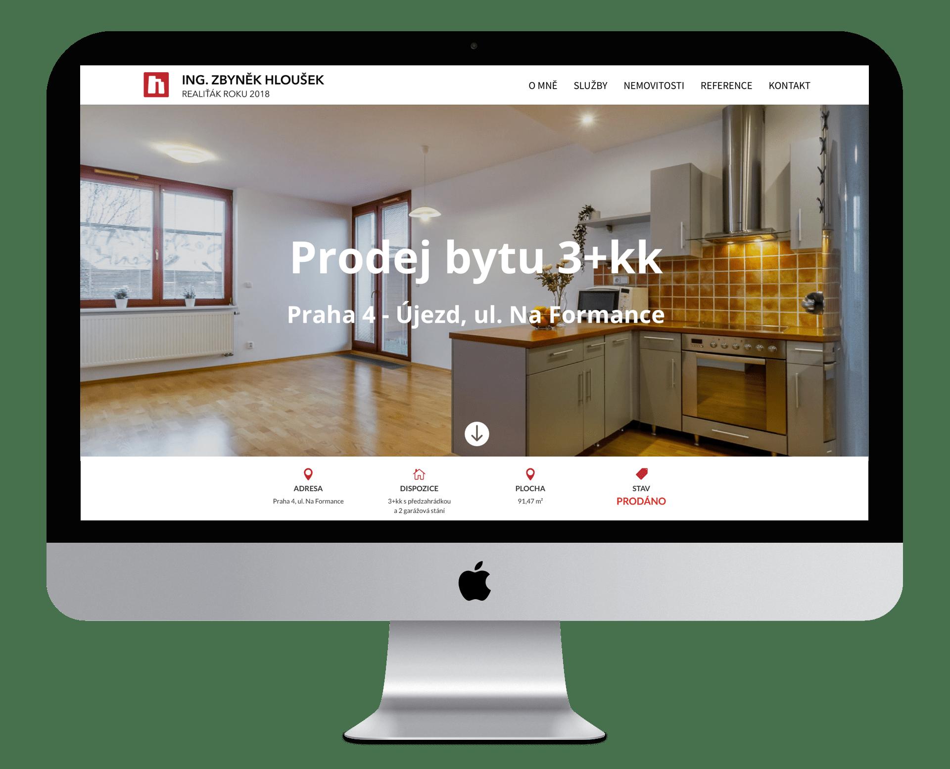 Web nemovitosti - prodej bytu Praha 10 Petrovice - Ing. Zbyněk Hloušek - realitní makléř v Praze