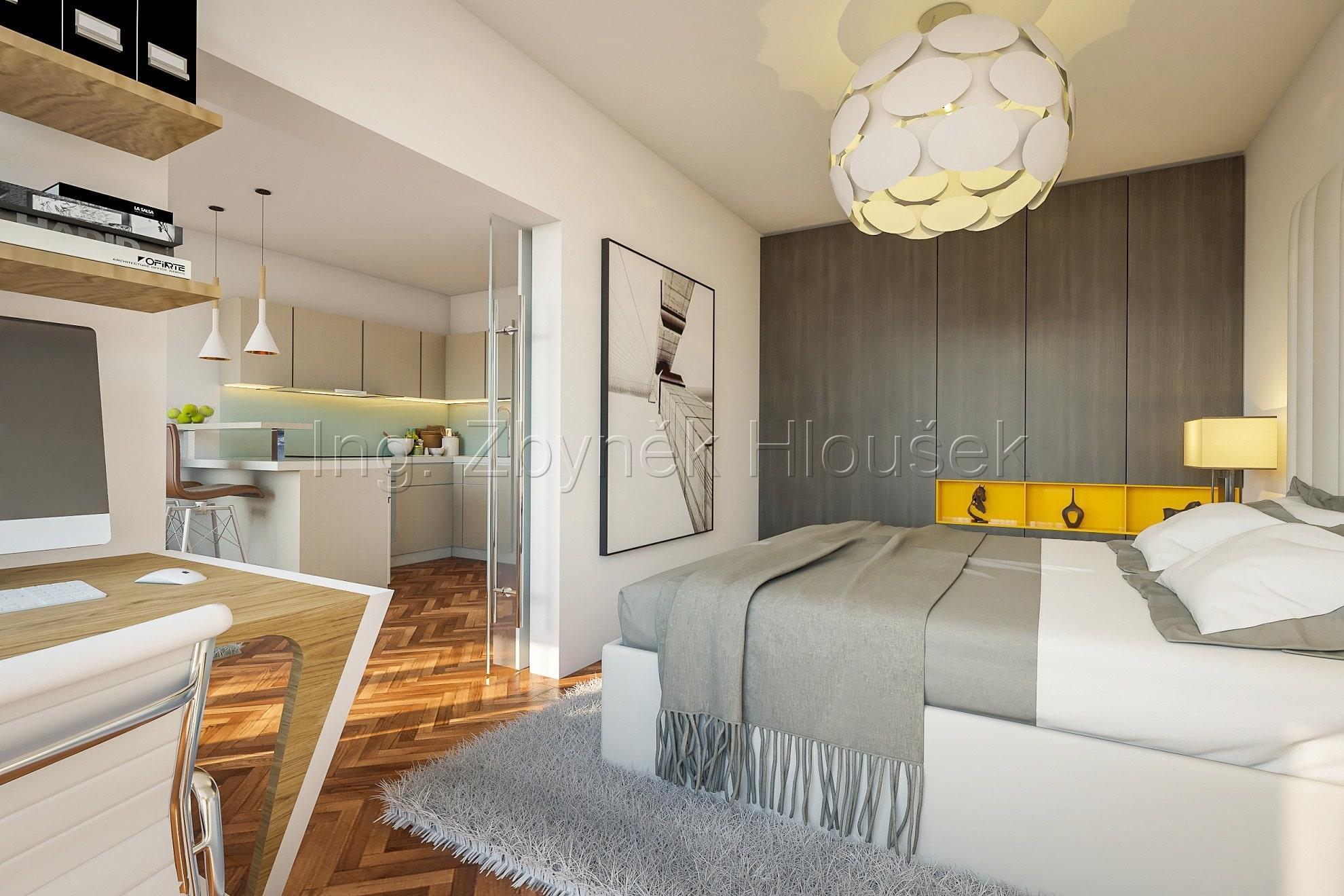Prodej bytu - Ujezd u Pruhonic - Ing. Zbyněk Hloušek vizualizace